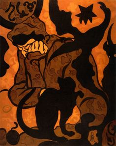 La sorcière au chat noir - Paul Ranson (1864 - 1909) was a French painter and writer. 1890 he became a member and a creative leader of the Nabis group