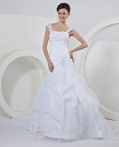 Zamítnuté+pasu+stydlivý+Elastický+satén+Portrét+Svatební+šaty