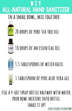 Hand Sanitizer Spray with essential oils Simple DIY hand sanitizer. Informations About Doterra Des Natural Disinfectant, Disinfectant Spray, Young Living Essential Oils, Essential Oil Blends, Natural Hand Sanitizer, Home Made Hand Sanitizer, Thing 1, Diy Beauty, Beauty Hacks