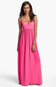 Bright pink, my signature color! Love this cute dress!