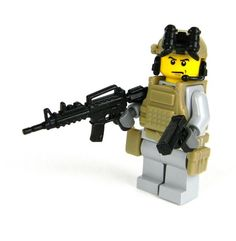 U.S. Army Ranger Single With Guns Made With Real LEGO(R) Mini-Figure Parts