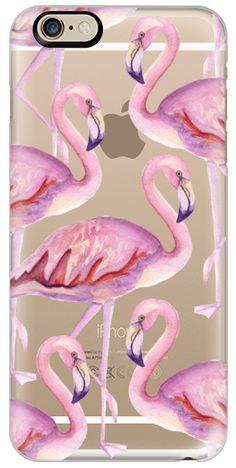 Casetify iPhone SE Classic Snap Case - Flamingo. Watercolor by Julia Badeeva