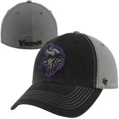 '47 Brand Minnesota Vikings Plasma Franchise Fitted Hat - Black/Charcoal