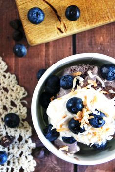 Chocolate Blueberry Ice Cream with Marshmallow Cream and Toasted Coconut   The Charming Detroiter