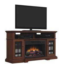 Whalen Sheldon 60 Quot Cherry Electric Fireplace Home