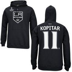 Anze Kopitar Los Angeles Kings Reebok 2014 Stanley Cup Champions Name & Number Hoodie - Black
