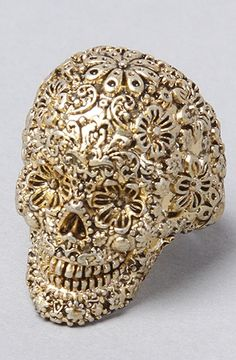 Disney Couture Jewelry | The Pirates Glamour Skull Ring in Gold | $22.00