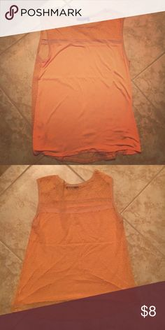 Sleeveless coral top Sleeveless light coral top with a sheer lace back. Apt. 9 Tops