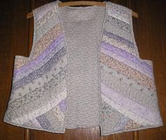 1980's Purple Floral Fabric and Lace String Quilted Vest,size small~Unique One of a Kind Creations offered by crafts4thecure on etsy