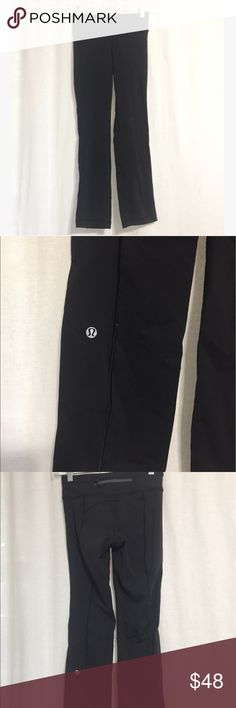 Lululemon Black Size XS Leggings 23 inches waist, 30.5 length. These are certainly very tiny but have can stretch. Back zipper detail. Size XS lululemon athletica Pants Leggings