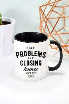Realtor Mug Real Estate Agent Mug Realtor gift Closing Gift Buying Your First Home, Sell Your House Fast, Home Buying, Company Swag, Company Gifts, Mortgage Interest Rates, Real Estate Humor, Work Gifts, Realtor Gifts