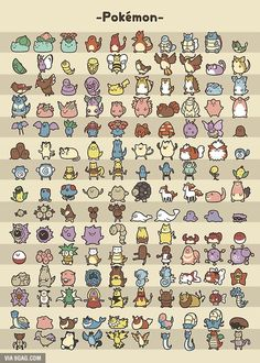 Pokemon and there evolutions xD Pokemon Poster, Pokemon Fan, Gen 1 Pokemon, Pokemon Charmander, Nintendo Pokemon, Bulbasaur, Cute Animal Drawings, Kawaii Drawings, Cute Drawings