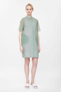 Translucent shirt dress