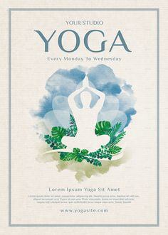 Yoga Flyer Vorlage - New Ideas Ashtanga Yoga, Kundalini Yoga, Event Poster Template, Flyer Template, Yoga Inspiration, Yoga Flyer, Happy International Yoga Day, Yoga Handstand, Yoga Logo