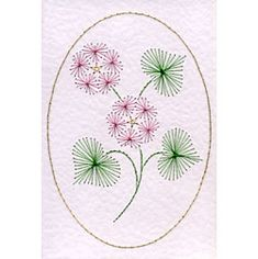 Heart flower | Flowers patterns at Stitching Cards.