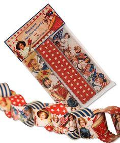 Americana Paper Chain Garland Kit