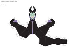 Blog_Paper_Toy_papercrafts_Disney_Villains_Bowling_Pins_Maleficient_template_preview