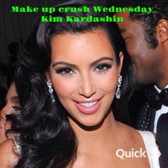 """MAKE UP CRUSH WEDNESDAY!My make up crush for this Wednesday is KIM KARDASHIN  ! She  always had a flawless beauty the a very contoured and highlighted to her makeup  applications. Her team of make up artist ensure her natural beauty to bring out her strong Arminian features to create a signature """" Kim look """" which is  always amazing. I can't ever deny her how her make up and hair are always on point."""