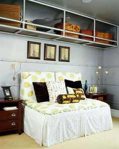neat ceiling storage- inspired by Airstream trailer