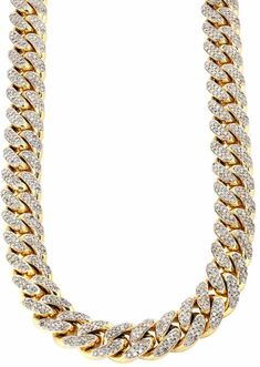 Our Yellow Gold Iced Out Diamond Cuban Link Chain is our best selling hip hop jewelry item to date. This CZ diamond chain is the ultimate baller item to rock with any outfit Luxury Jewelry, Modern Jewelry, Bling Jewelry, Gold Necklace For Men, Men Necklace, Gold Chains For Men, Diamond Chains For Men, Wedding Jewellery Inspiration, Chain Pendants
