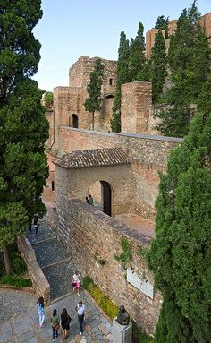 Fortifications  Alcazaba de Málaga, Malaga, Spain