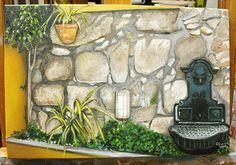 Pintura a óleo realizada pela Carmen Nogueira