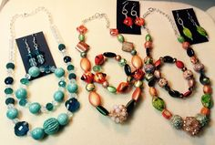 A few of my designs using #JesseJamesBeads.