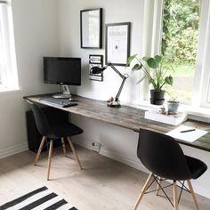 Home office design for men layout decor 32 ideas Home Office Space, Home Office Desks, Office Furniture, Office Workspace, Home Office Table, Small Workspace, Black Furniture, Luxury Furniture, Bedroom Furniture