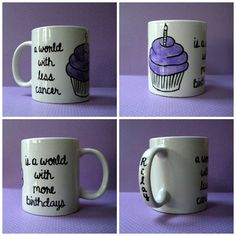 Looks easy enough to make a few of them - Relay For Life Coffee Mug by HappilyEvrCrafters on Etsy