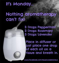 How did Monday get here so quickly? The weekend seems to have disappeared in the blink of an eye. If, like me, you are struggling a bit this Monday morning, here's what's going to be in the diffuser today. Peppermint to help stimulate and fight fatigue, Rosemary to stimulate the mind and bring clarity, and Lavender to calm and bring balance. Have a great week! www.facebook.com/lessencedelavieus