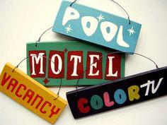 Etsy Find: Retro Motel Signs