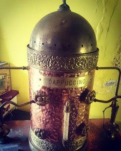 Large antique vintage espresso machine #coffee #copper #espresso #vintage #oldschool #belfast #northernireland #art #retro #creative #art #cappuccino #latte #instaphoto #instagramers #instaphoto #instapic #photooftheday #l4l #coffeeoftheday #espressomachine http://ift.tt/1VbgBi2