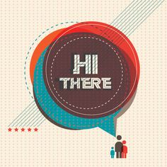 """""""#Hi"""", cool #vector #design by DryIcons.com."""