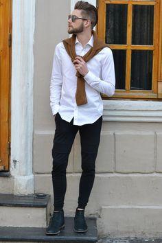ootd, style, fashion, look do dia, moda masculina, bota, cabelo masculino, blond hair, camisa branca, boots, botas, tricot, óculos, dior, óculos de sol, óculos dior