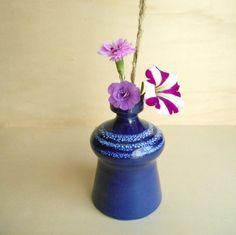 vintage vase / Wilhelm Kagel WK / 11.5 cm / blue / studio ceramics / Keramik / Germany / Garmisch-Partenkirchen / 1980s by sperlingslustvintage on Etsy
