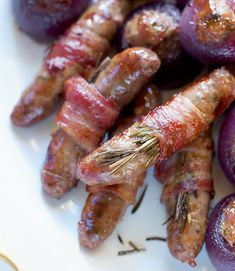 The rosemary and honey in this sausage recipe takes pigs in blankets up a notch. Freeze them ahead to cut down your prep on Christmas day.