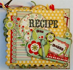 recipe mini album.