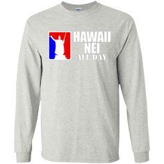 Hawaii Nei Aloha LS Ultra Cotton Tshirt