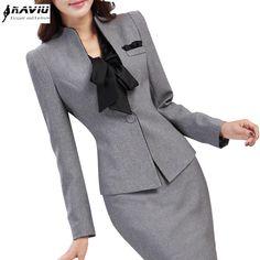 7b06b6a95c Рабочая одежда женская мода одежда тонкий длинными рукавами пиджак с  брюками офис дамы формальное ПР брючный
