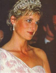 Princess Diana+tiara+Pearls