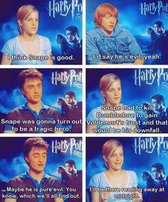 "Lol, Rupert is just like Ron. :D Before ""The Deathly Hallows"" came out, the trio tried to guess Snape: Good or Evil?"