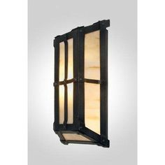 Steel Partners San Carlos 1 Light Wall Sconce Finish: Mountain Brown, Shade Color: White Mica