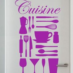 Cooking Utensils Sticker. Awesome Food, Good Food, Kitchen Stickers, Cooking Utensils, Food And Drink, Baking, Kitchens, Diy Kitchen Appliances, Bakken