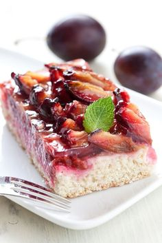 Bleskový slivkový koláč