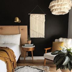 14 Trendy Bedroom Design and Decor Ideas for Your Next Makeover - The Trending House Bedroom Paint Colors, Paint Colours, Bedroom Layouts, Contemporary Bedroom, Modern Bedroom, Bedroom Small, Minimalist Bedroom, Dark Bedrooms, Bedroom Brown