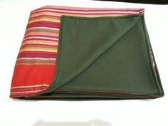 Unique Maasai Kikoy Print Throw- Large African Print Fleece Blanket - Tribal Fleece Throw - Tribal G