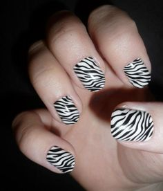 Zebra Nails to go with one of our best selling bikinis, the Hot Zebra Colombian Tie.