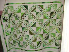 Jewel tone green quilt from Dormouse Diaries