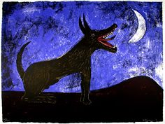 Rufino Tamayo, Moon Dog. While a contemporary of Orozco, Riviera, Tamayo focused more on traditional Mexican art than politics.