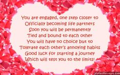 Congratulations on your engagement greeting card flo pinterest funny engagement card poem you are engaged one step closer to officially becoming life m4hsunfo